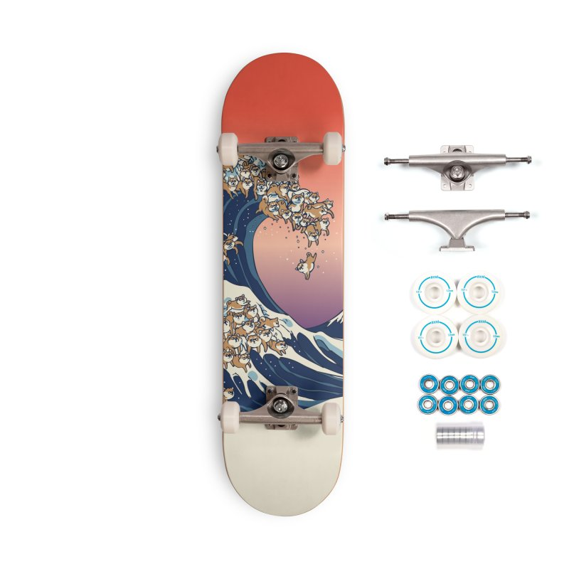 The Great Wave of Shiba Inu Accessories Complete - Basic Skateboard by huebucket's Artist Shop
