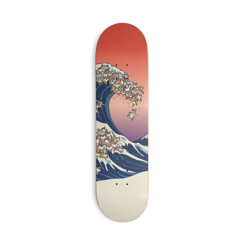 The Great Wave of Shiba Inu Accessories Deck Only Skateboard by huebucket's Artist Shop