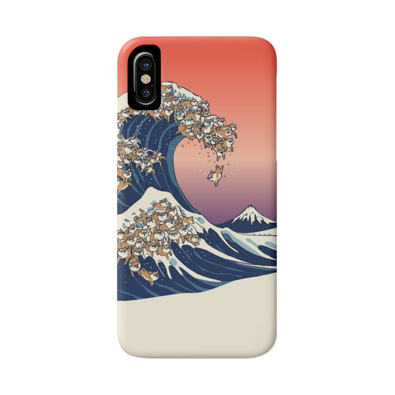 The Great Wave of Shiba Inu Accessories Phone Case by huebucket's Artist Shop