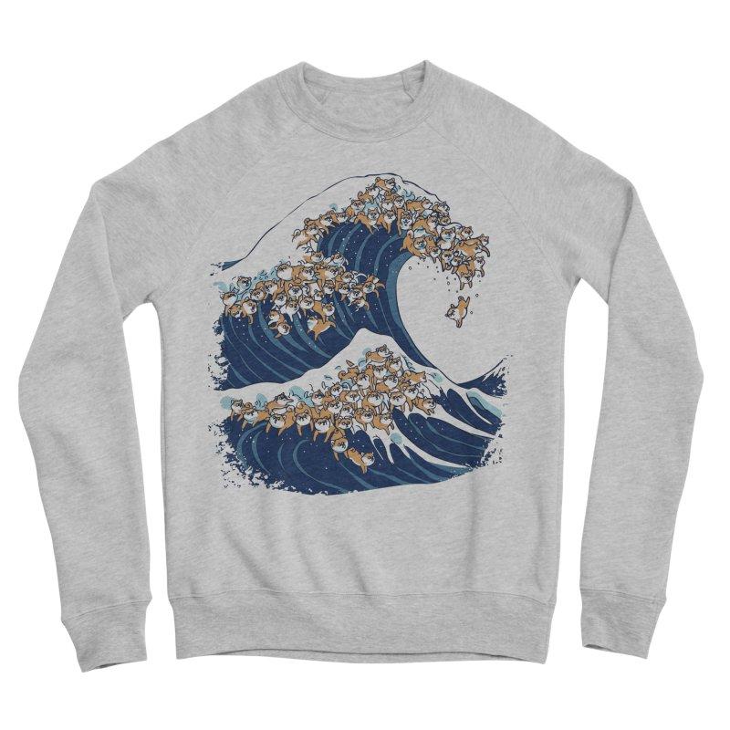 The Great Wave of Shiba Inu Men's Sponge Fleece Sweatshirt by huebucket's Artist Shop