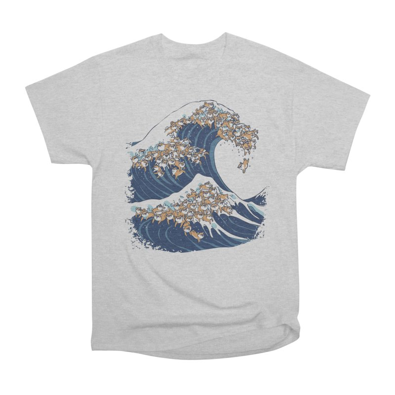 The Great Wave of Shiba Inu Women's Heavyweight Unisex T-Shirt by huebucket's Artist Shop