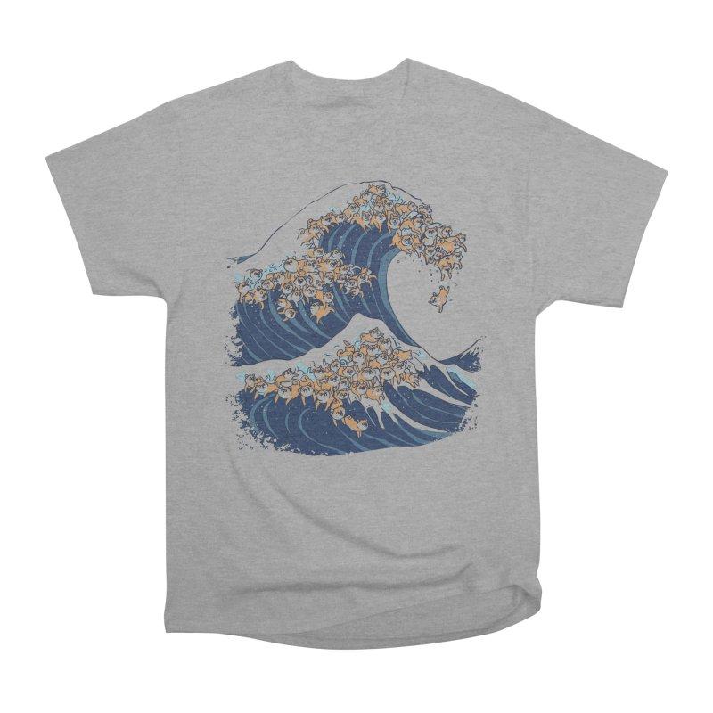 The Great Wave of Shiba Inu Men's Heavyweight T-Shirt by huebucket's Artist Shop