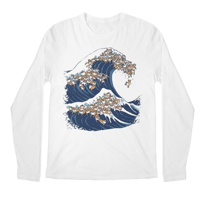 The Great Wave of Shiba Inu Men's Regular Longsleeve T-Shirt by huebucket's Artist Shop