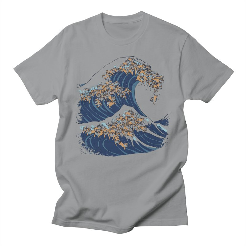The Great Wave of Shiba Inu Men's Regular T-Shirt by huebucket's Artist Shop