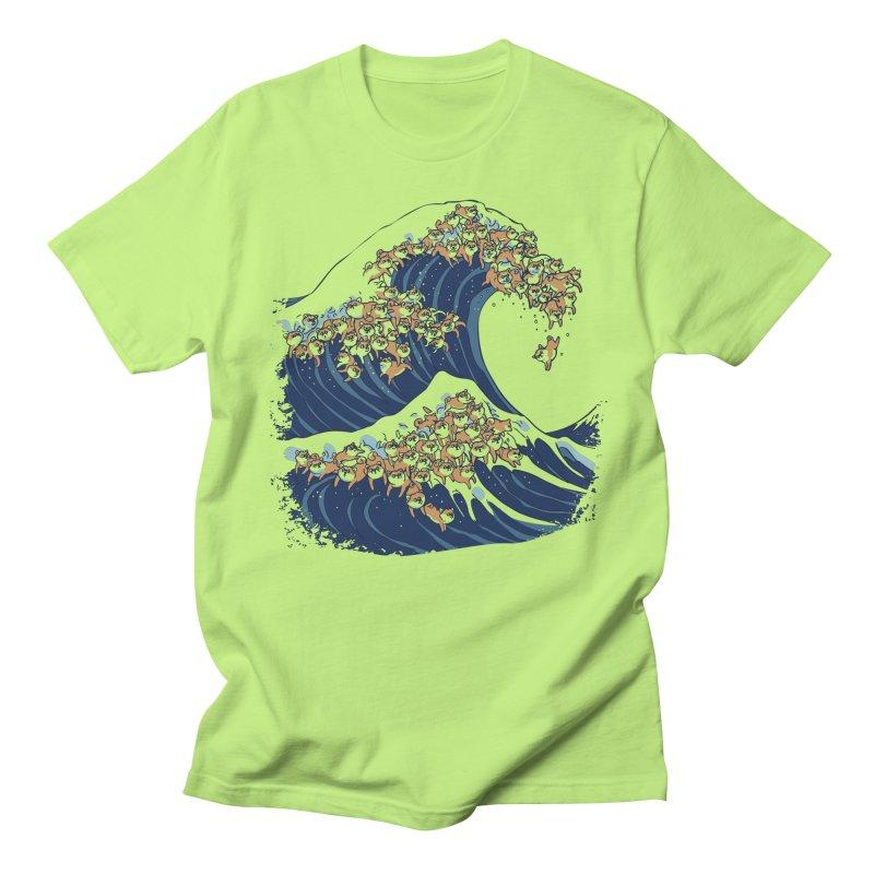 The Great Wave of Shiba Inu Women's Regular Unisex T-Shirt by huebucket's Artist Shop