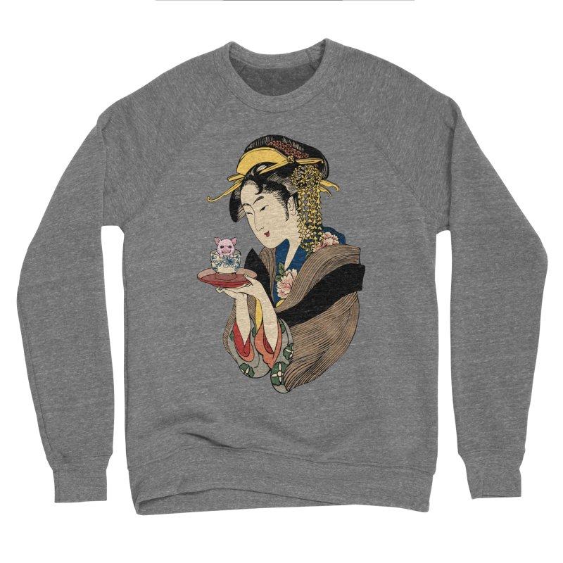 Tea Time with Pig Women's Sponge Fleece Sweatshirt by huebucket's Artist Shop