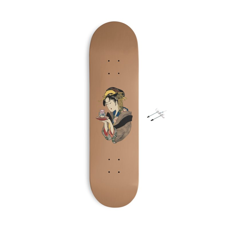 Tea Time with Pig Accessories With Hanging Hardware Skateboard by huebucket's Artist Shop