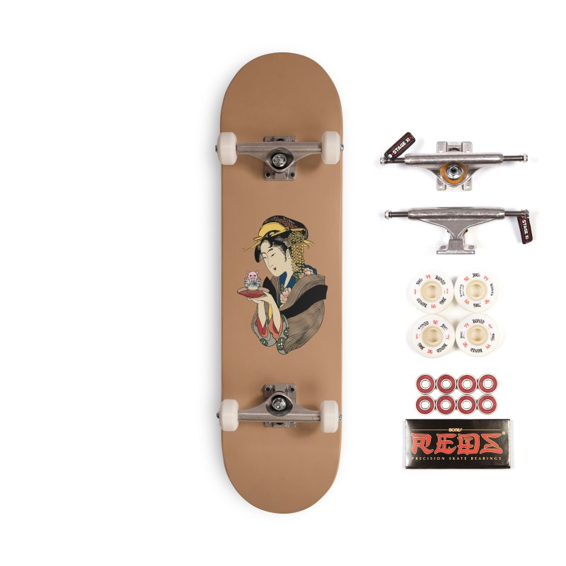 Tea Time with Pig Accessories Complete - Pro Skateboard by huebucket's Artist Shop