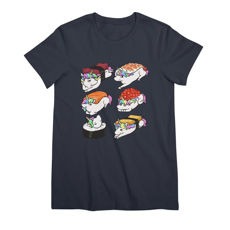 Sushi Unicorn Women's Premium T-Shirt by huebucket's Artist Shop