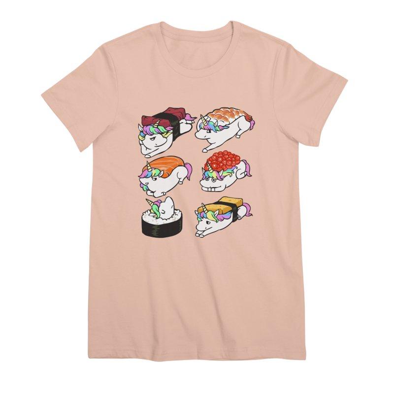 Sushi Unicorn Women's Premium T-Shirt by huebucket's Artist Shop