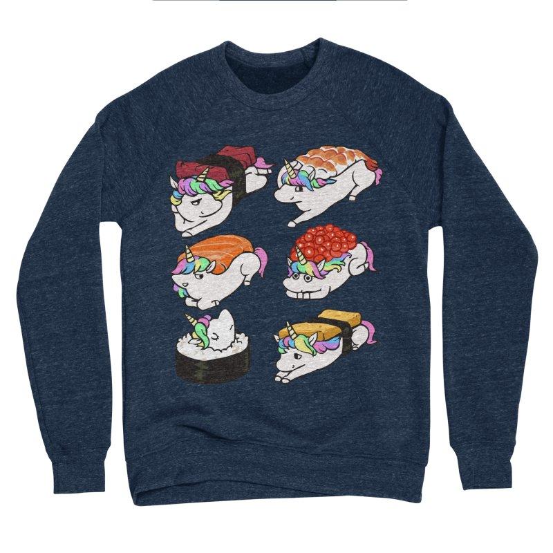 Sushi Unicorn Men's Sponge Fleece Sweatshirt by huebucket's Artist Shop