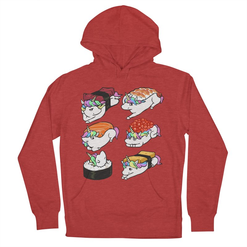 Sushi Unicorn Women's French Terry Pullover Hoody by huebucket's Artist Shop
