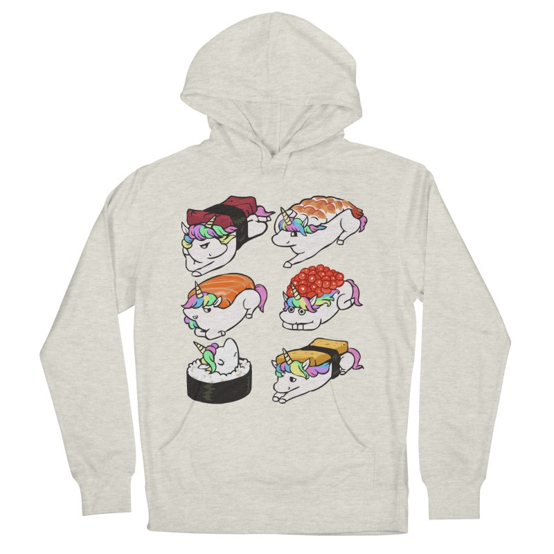 Sushi Unicorn Men's French Terry Pullover Hoody by huebucket's Artist Shop