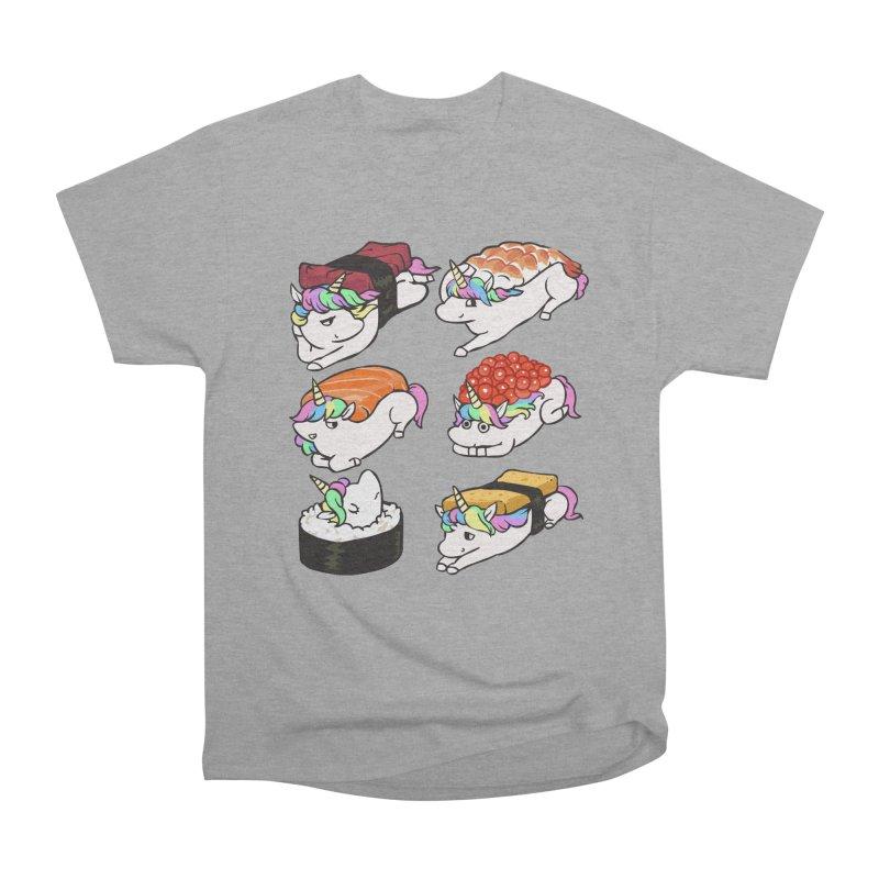 Sushi Unicorn Women's Heavyweight Unisex T-Shirt by huebucket's Artist Shop