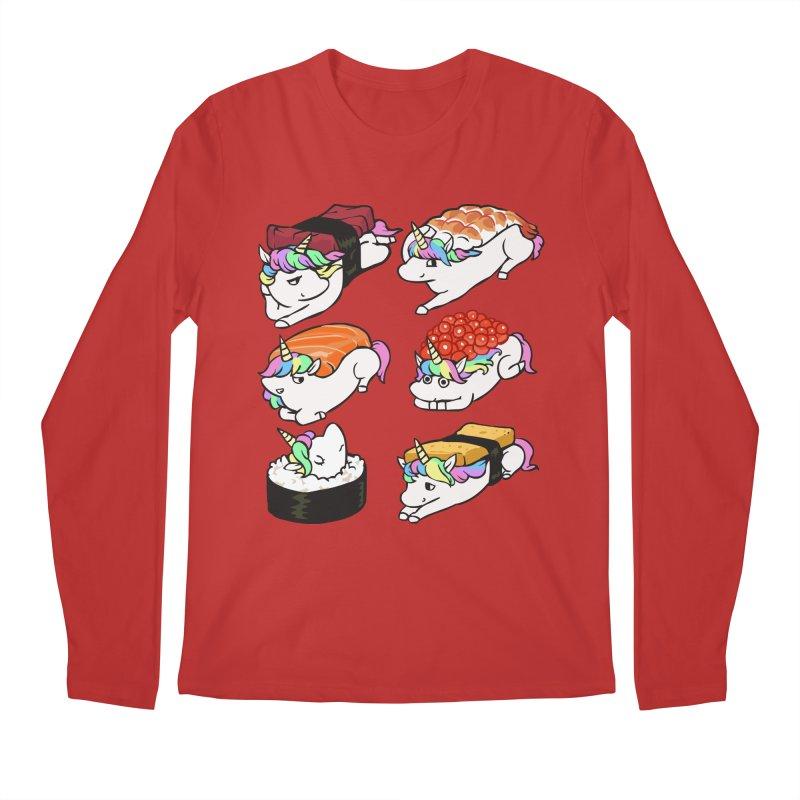 Sushi Unicorn Men's Regular Longsleeve T-Shirt by huebucket's Artist Shop