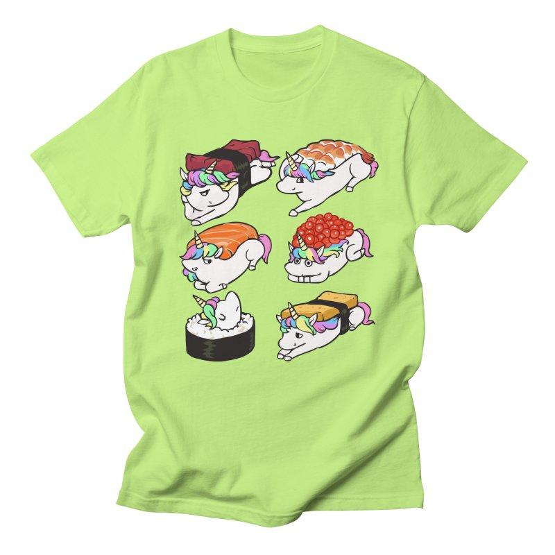 Sushi Unicorn Women's Regular Unisex T-Shirt by huebucket's Artist Shop
