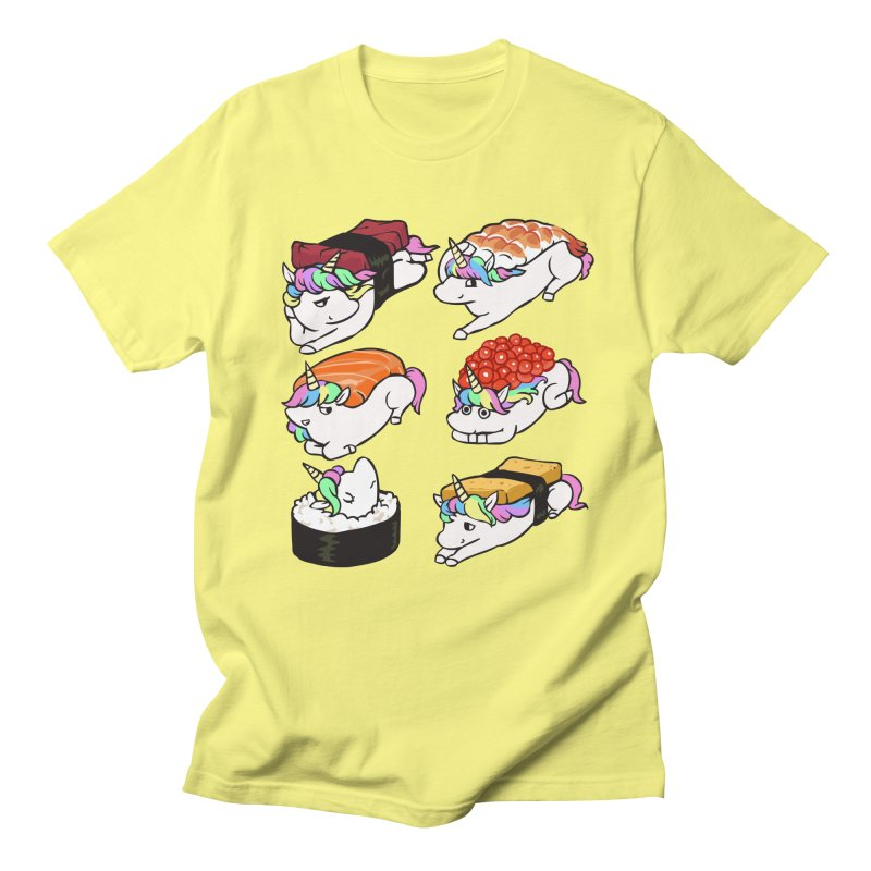 Sushi Unicorn Men's Regular T-Shirt by huebucket's Artist Shop