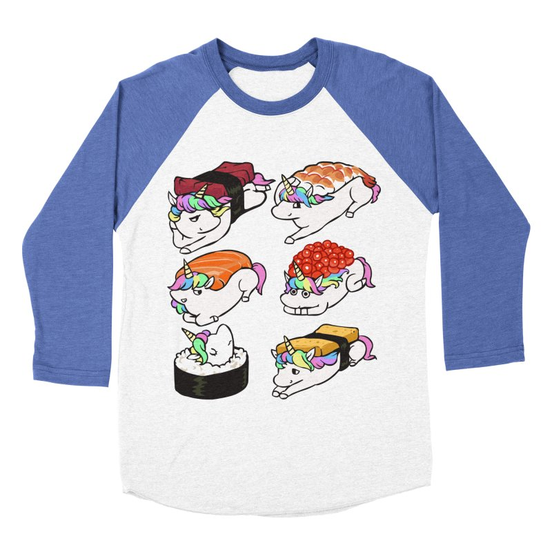 Sushi Unicorn Women's Baseball Triblend Longsleeve T-Shirt by huebucket's Artist Shop