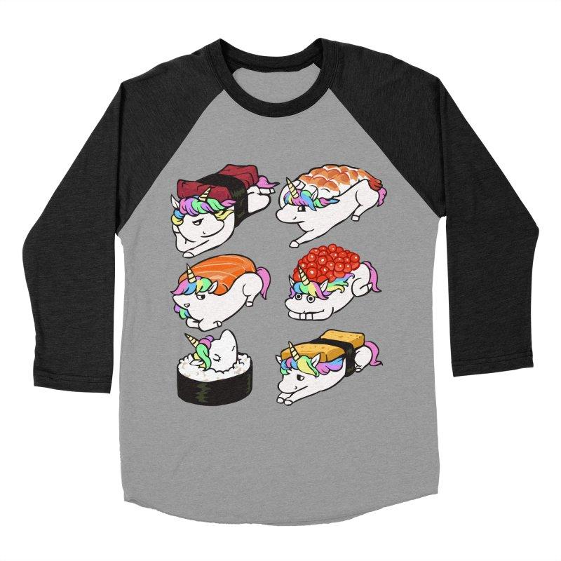 Sushi Unicorn Men's Baseball Triblend Longsleeve T-Shirt by huebucket's Artist Shop