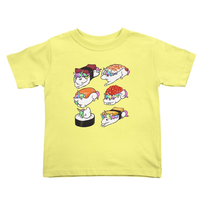 Sushi Unicorn Kids Toddler T-Shirt by huebucket's Artist Shop