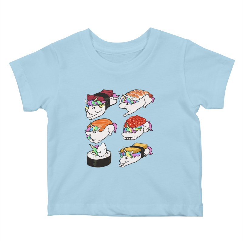 Sushi Unicorn Kids Baby T-Shirt by huebucket's Artist Shop