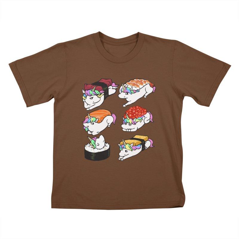 Sushi Unicorn Kids T-Shirt by huebucket's Artist Shop