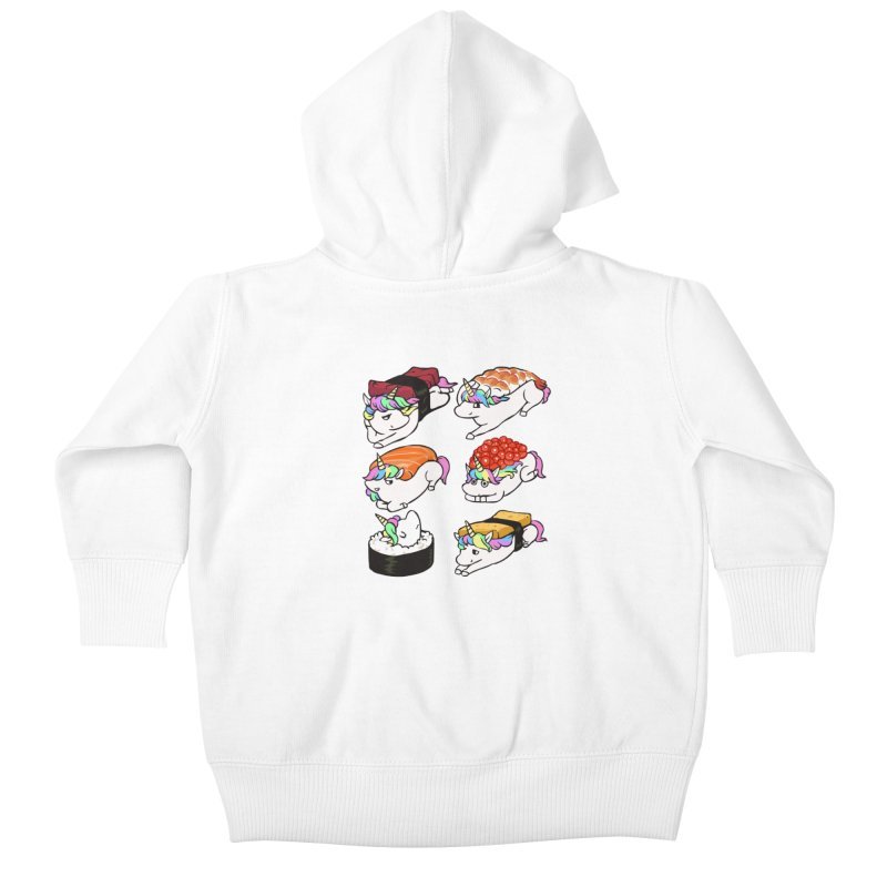 Sushi Unicorn Kids Baby Zip-Up Hoody by huebucket's Artist Shop