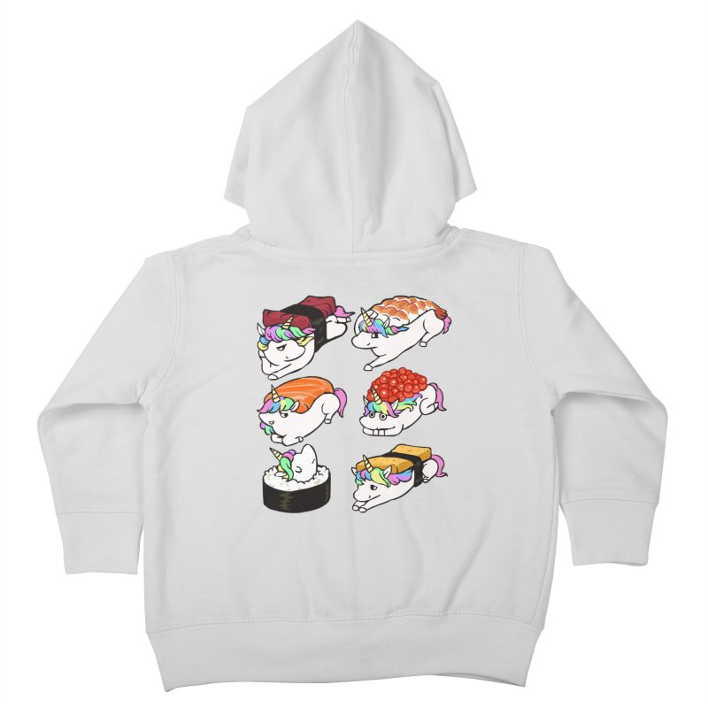 Sushi Unicorn Kids Toddler Zip-Up Hoody by huebucket's Artist Shop