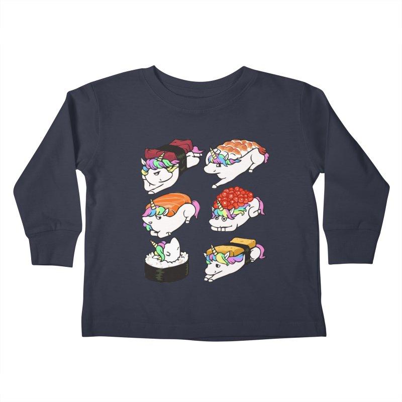 Sushi Unicorn Kids Toddler Longsleeve T-Shirt by huebucket's Artist Shop