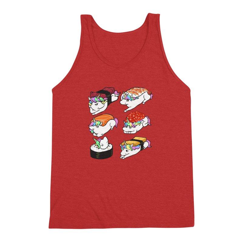 Sushi Unicorn Men's Triblend Tank by huebucket's Artist Shop