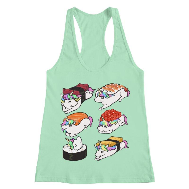 Sushi Unicorn Women's Racerback Tank by huebucket's Artist Shop
