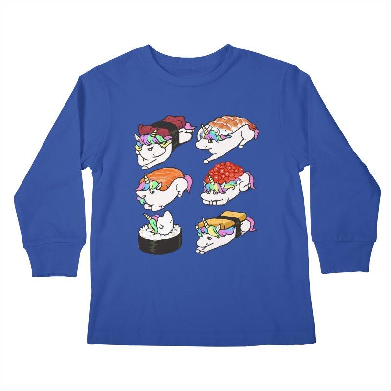 Sushi Unicorn Kids Longsleeve T-Shirt by huebucket's Artist Shop