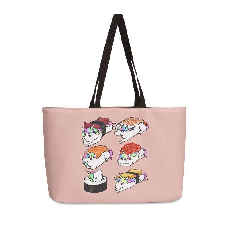 Sushi Unicorn Accessories Weekender Bag Bag by huebucket's Artist Shop