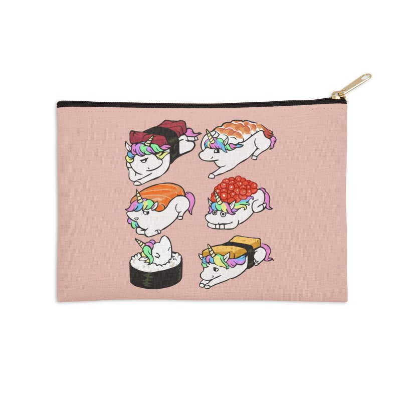 Sushi Unicorn Accessories Zip Pouch by huebucket's Artist Shop