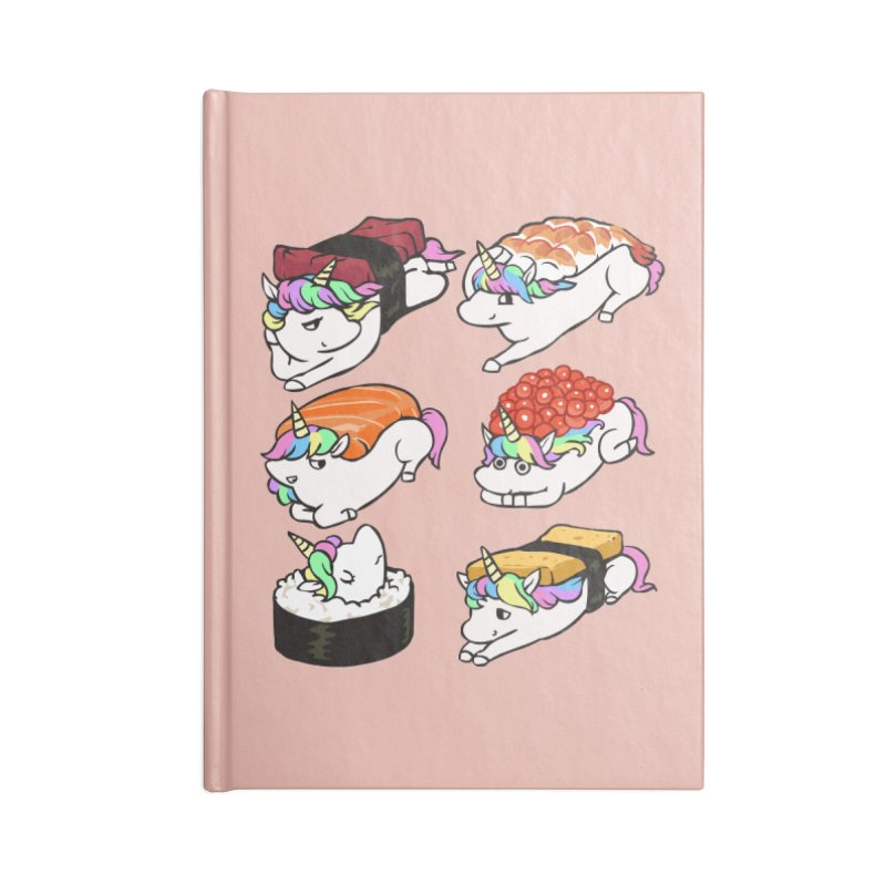 Sushi Unicorn Accessories Lined Journal Notebook by huebucket's Artist Shop