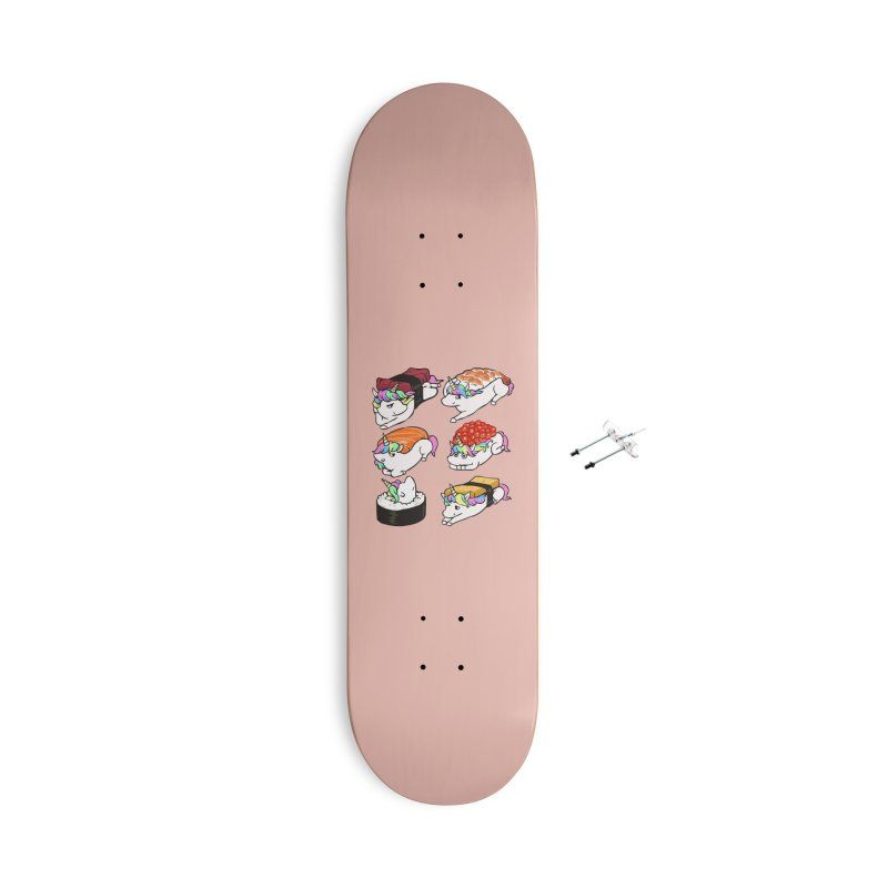 Sushi Unicorn Accessories With Hanging Hardware Skateboard by huebucket's Artist Shop