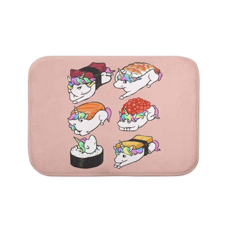 Sushi Unicorn Home Bath Mat by huebucket's Artist Shop