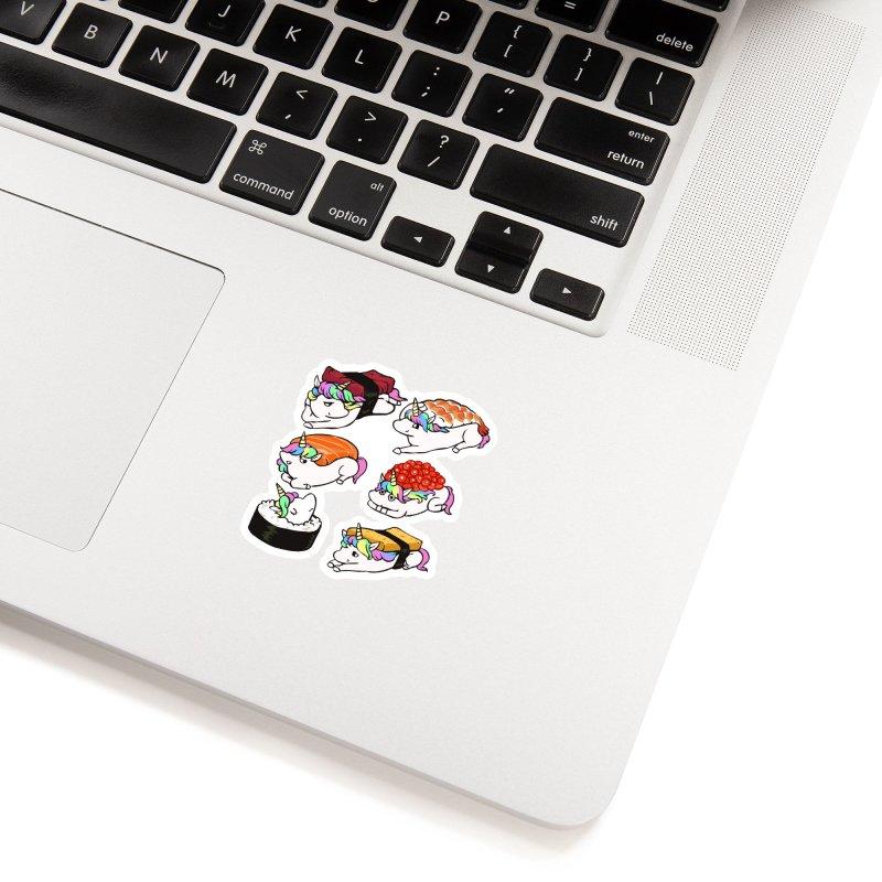 Sushi Unicorn Accessories Sticker by huebucket's Artist Shop