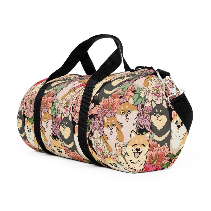 Because Shiba Inu Accessories Duffel Bag Bag by huebucket's Artist Shop