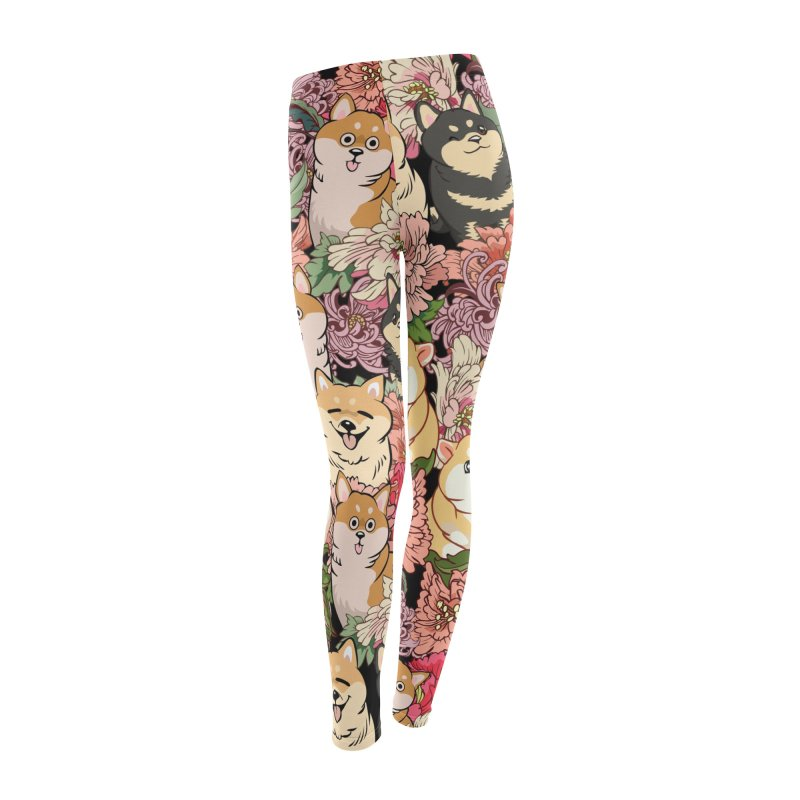 Because Shiba Inu Women's Leggings Bottoms by huebucket's Artist Shop