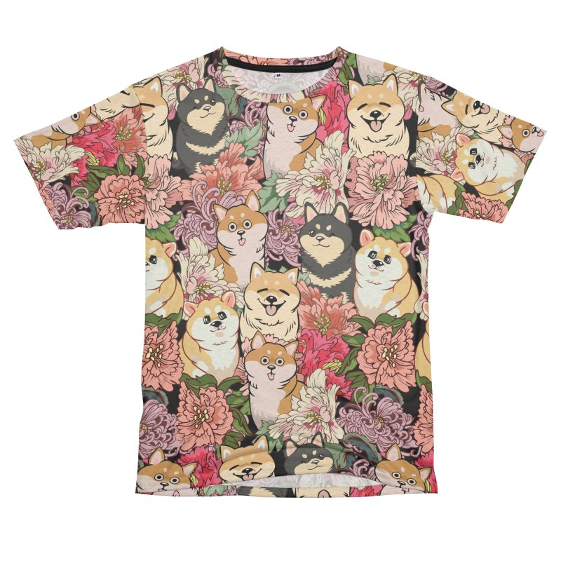 Because Shiba Inu Men's French Terry T-Shirt Cut & Sew by huebucket's Artist Shop