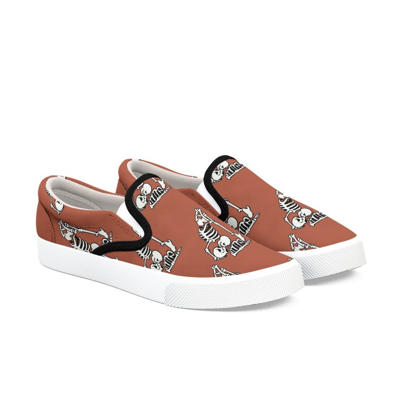 Skeleton Acroyoga Men's Slip-On Shoes by huebucket's Artist Shop
