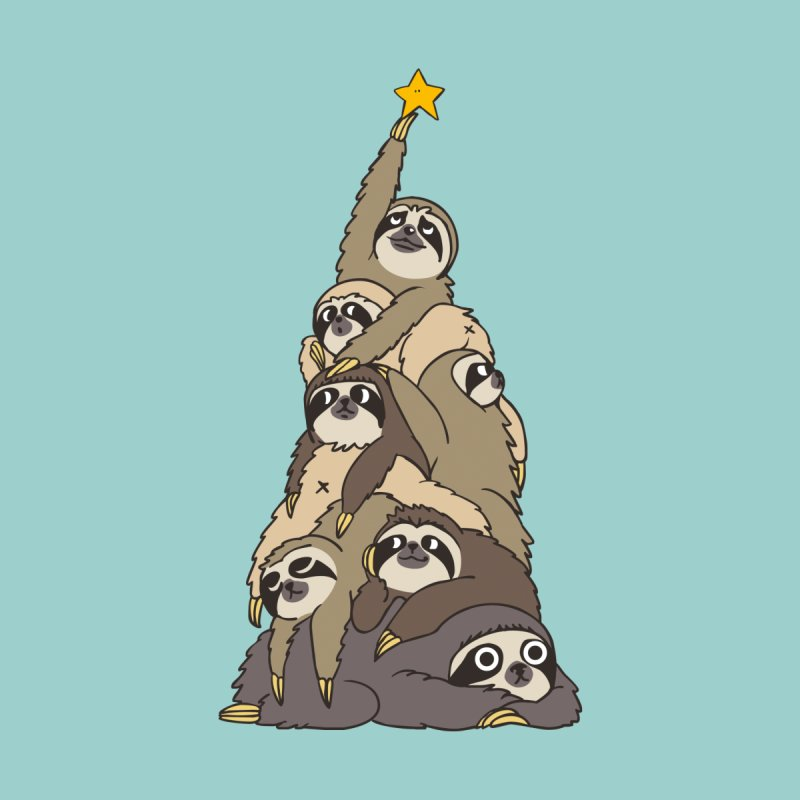 Christmas Tree Sloths Women's T-Shirt by huebucket's Artist Shop