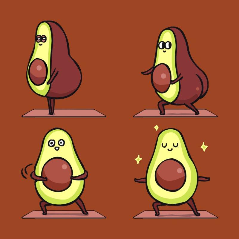Warrior II Avocado Yoga by huebucket's Artist Shop