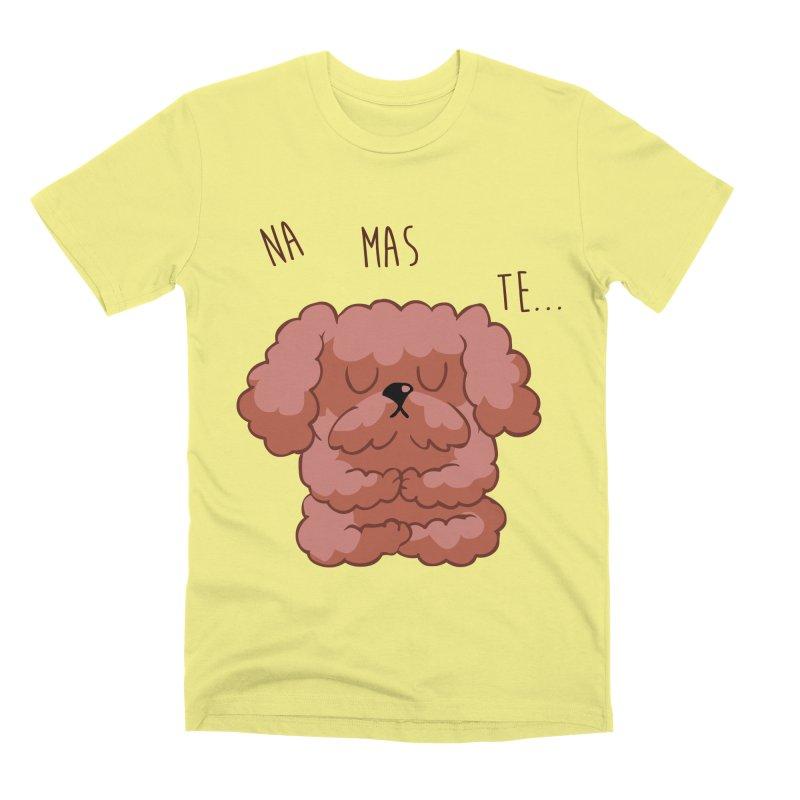 Namaste Poodle Men's Premium T-Shirt by huebucket's Artist Shop