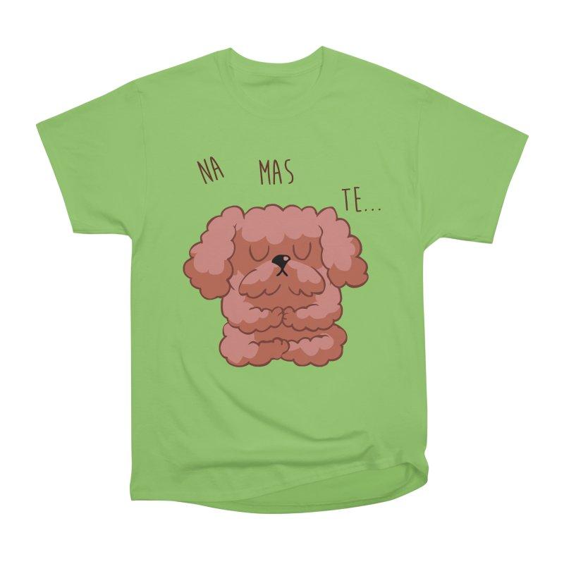 Namaste Poodle Men's Heavyweight T-Shirt by huebucket's Artist Shop