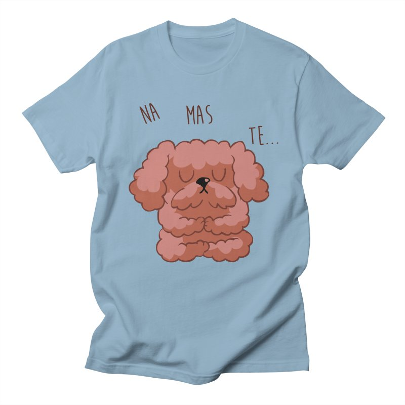 Namaste Poodle Men's Regular T-Shirt by huebucket's Artist Shop