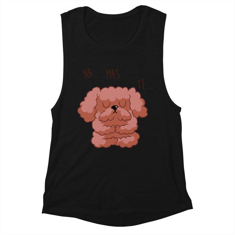 Namaste Poodle Women's Muscle Tank by huebucket's Artist Shop