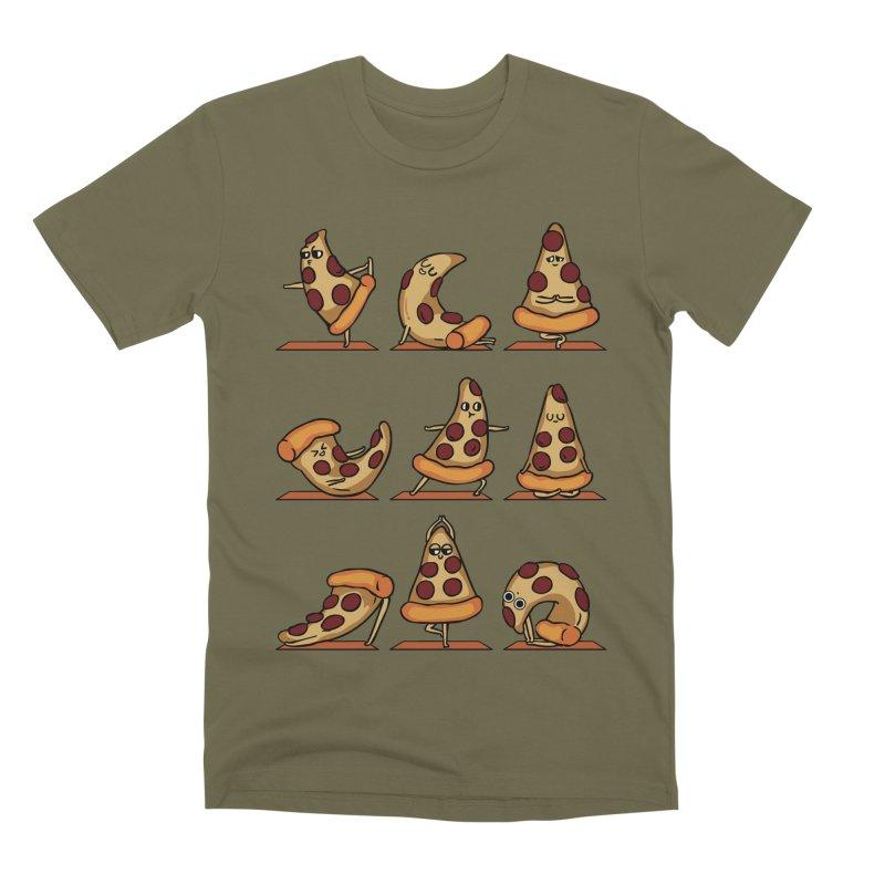 Pizza Yoga Men's Premium T-Shirt by huebucket's Artist Shop