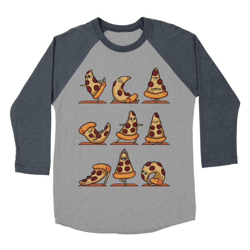 Pizza Yoga Women's Baseball Triblend Longsleeve T-Shirt by huebucket's Artist Shop